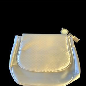 Bulgari cream makeup bag cosmetic pouch toiletry
